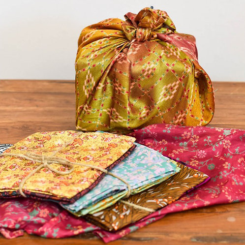 Recycled Sari Wraps – Set of 2