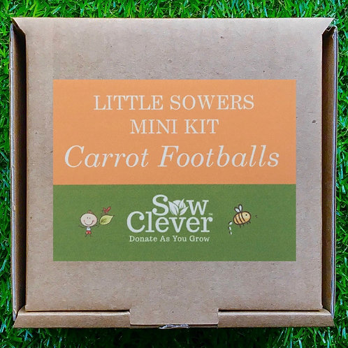 Gardening Mini-Kit - Carrot Footballs
