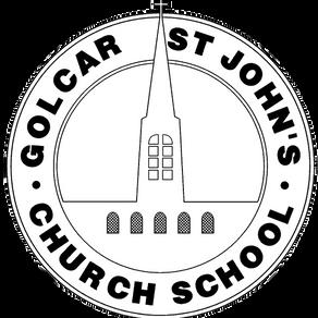 Golcar St John's School flies the Fairtrade flag