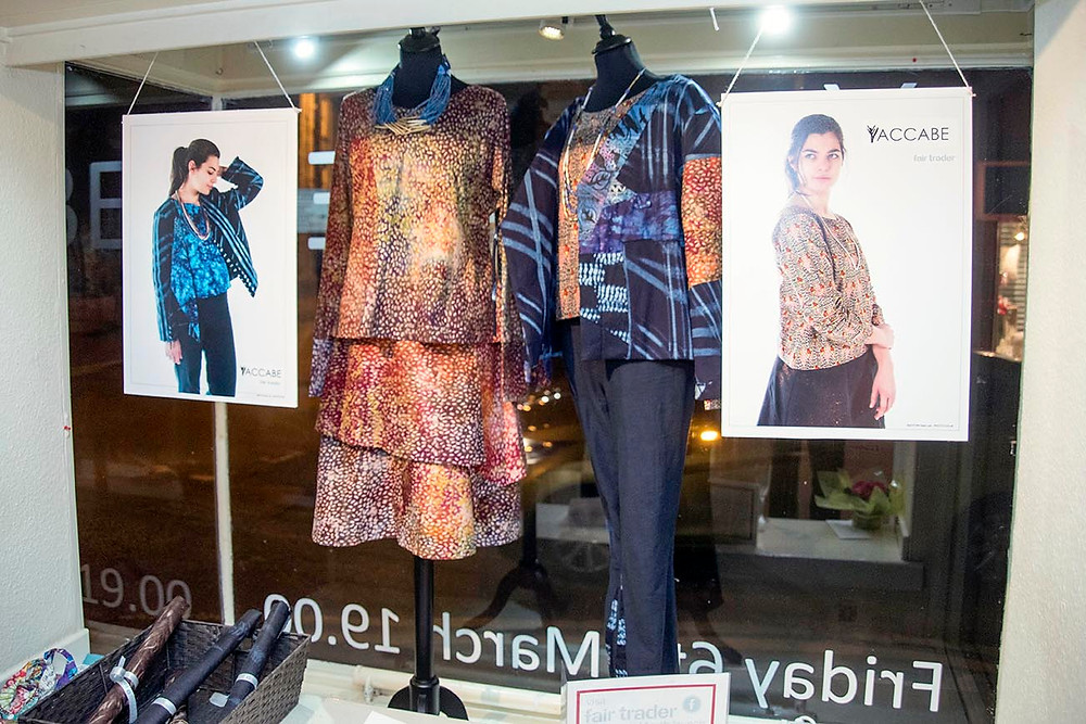 The Yaccabe range of clothing designed by Sarah, our trainee manager