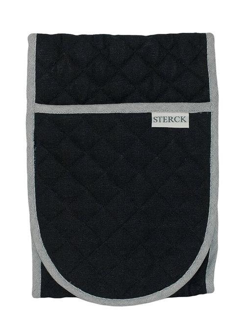 Sterck& Company Oven Gloves - Carom Two Tone Denim - Black/Grey