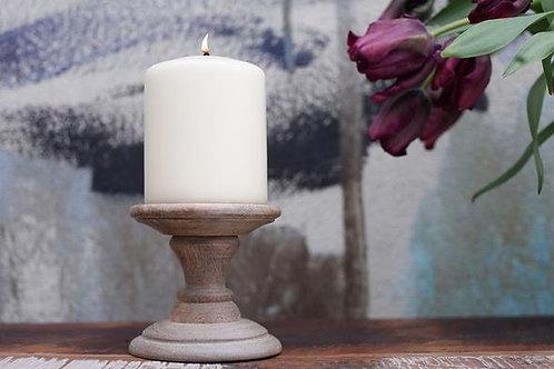 Nkuku Niwari Candlestick Mango Wood