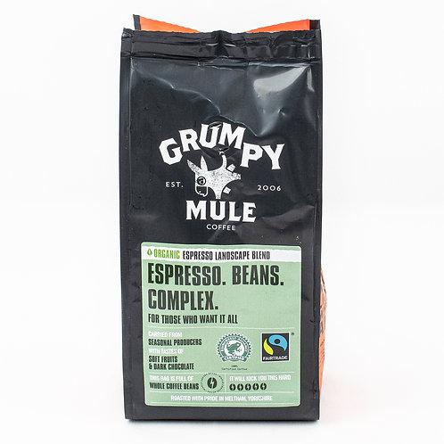 Grumpy Mule Organic Espresso Landscape Coffee - Beans