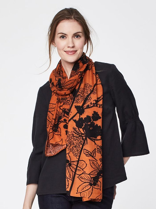 Thought Vintage Print Elspeth Scarf - Russet