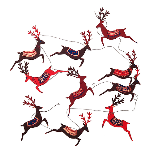Festive Reindeer Garland