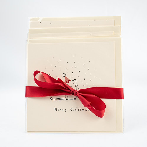 Ruth Jackson Pencil Shavings Christmas Cards - 4 different