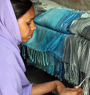 York Scarves weaver