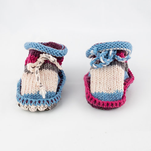 Hand-Knitted Baby Bootees 0-6 months