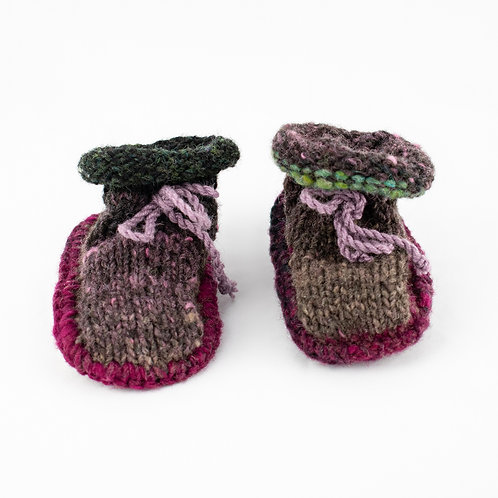 Hand-Knitted Baby Bootees 6-12 months
