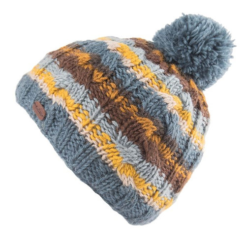 KuSan Cable Stripe Bobble Hat