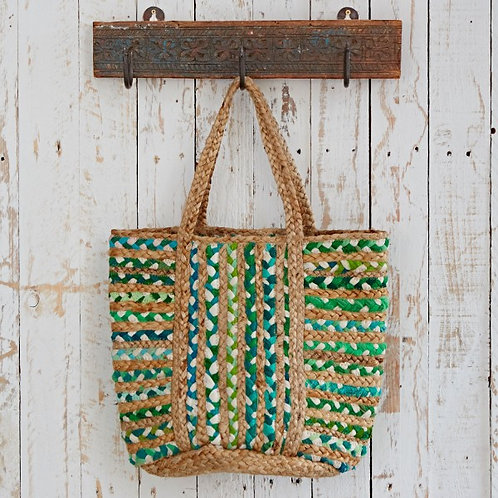 Cotton Jute shopping bag: green