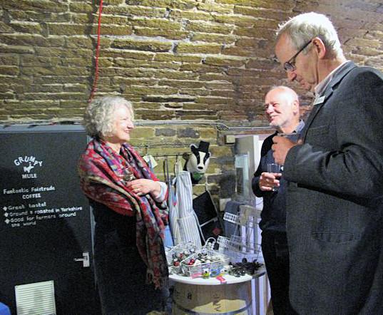 Guests enjoying drinks and nibbles at Fair Trader