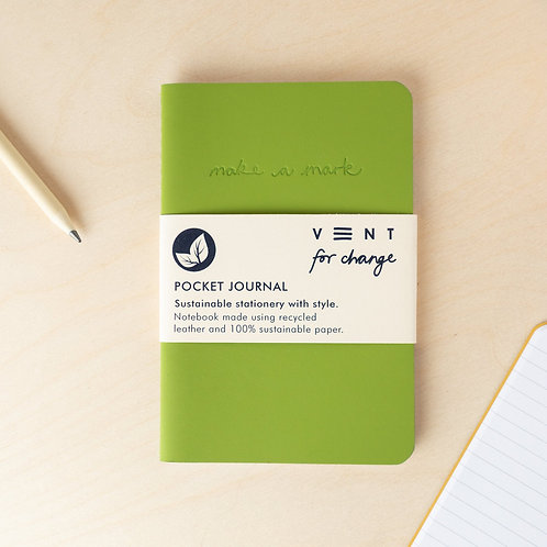 VENT for Change Recycled Leather Pocket Journal A6