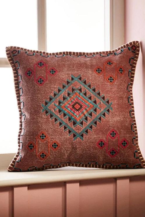Satara Embroidered Stonewash Cushion Cover
