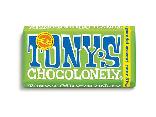 Tony's Chocolonely Dark Chocolate Almond And Sea Salt Bar