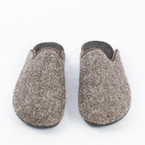 Peter James Ladies' Tweed Slippers - Herdwick