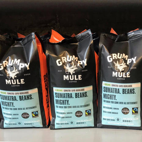 Locally-blended artisan coffee –ground and beans