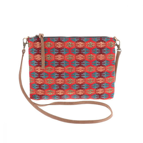 AURA QUE ICCHA Handwoven Dhaka Cross Body Bag