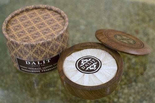 Dalit Sandal-Scented Shaving Soap in Rosewood Bowl