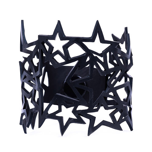 Star Inner Tube Recycled Bracelet