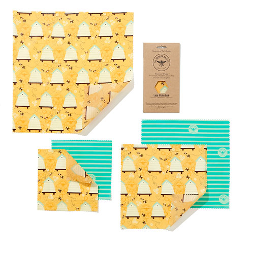 The Food Wrap Co. Beeswax Wrap - Large (5-pack)