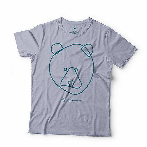 Otso Bear Faced by KnownAim T Shirt - Serene Blue