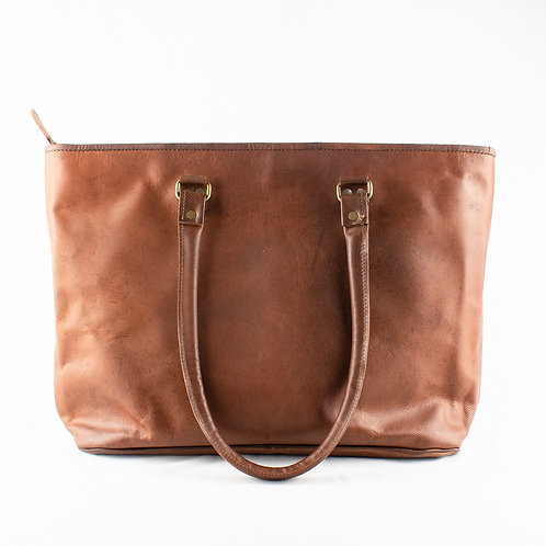 Paper High Large Leather Shopping Bag