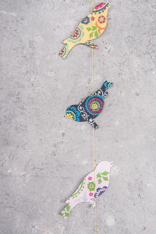 Folky-patterned Bird String