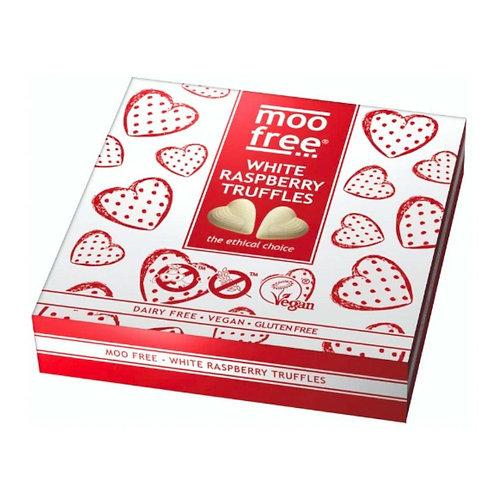 Moo Free Gluten & Dairy Free Vegan White Chocolate & Raspberry Truffles