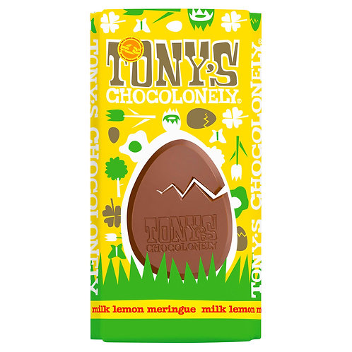 Tony's Chocolonely Milk Chocolate Meringue and Lemon Bar