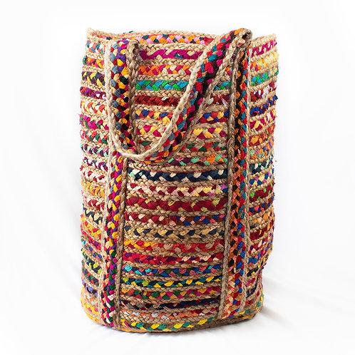 Multi Cotton and Jute Chindi Bag