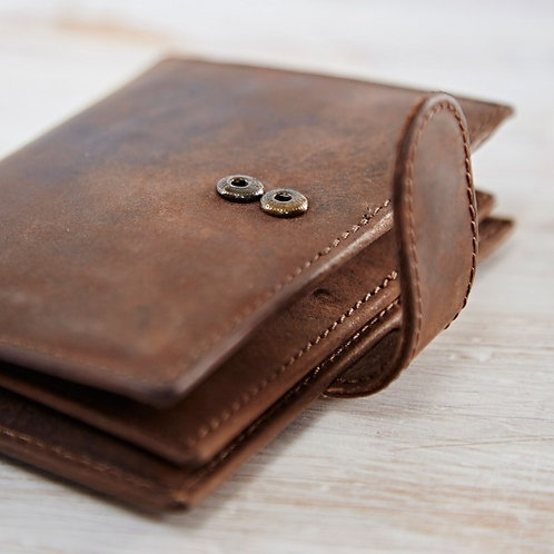 Paper High Buffalo Leather Credit Card Case