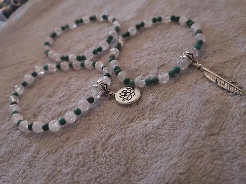 Bracelet Chrysocolle et Cristal de Roche