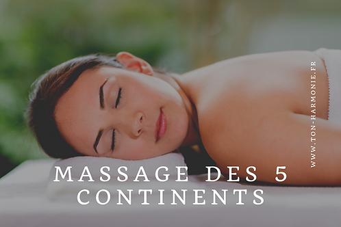 Bon cadeau Massage des 5 Continents