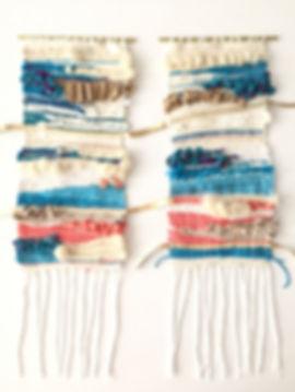 Custom woven art for a milestone birthday incorporating 15 repurposed materials