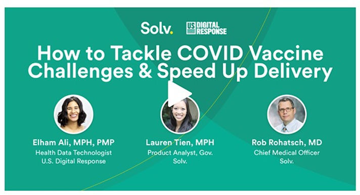 ٍSolv USDR webinar How to tackle covid vaccination challenges and speed up delivery