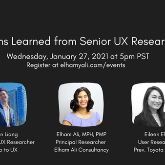 Lessons Learned from Senior UX Researchers