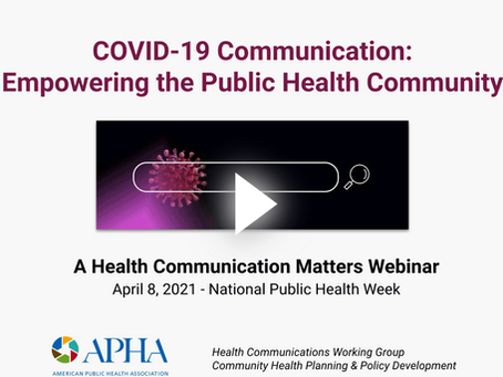 COVID-19 Crisis Communication: Empowering the Public Health Community