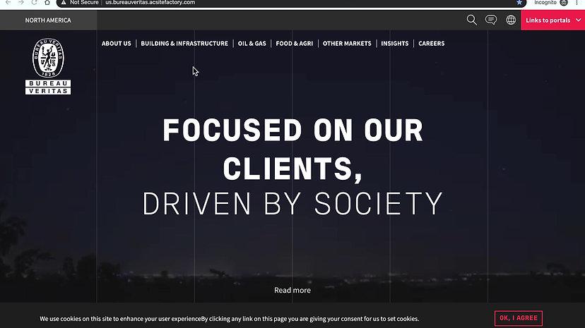 A video walkthrough through the rebrand of bureau veritas north america