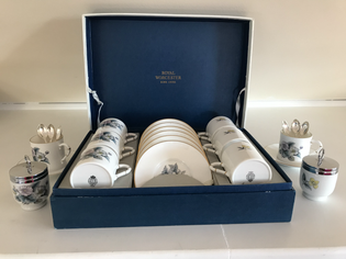 206 Royal Worcester 8 piece Coffee Set.j