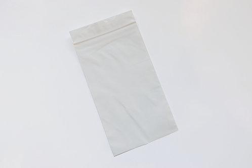 Custom White Resealable Bag: 100x180x50um (1,000pcs)