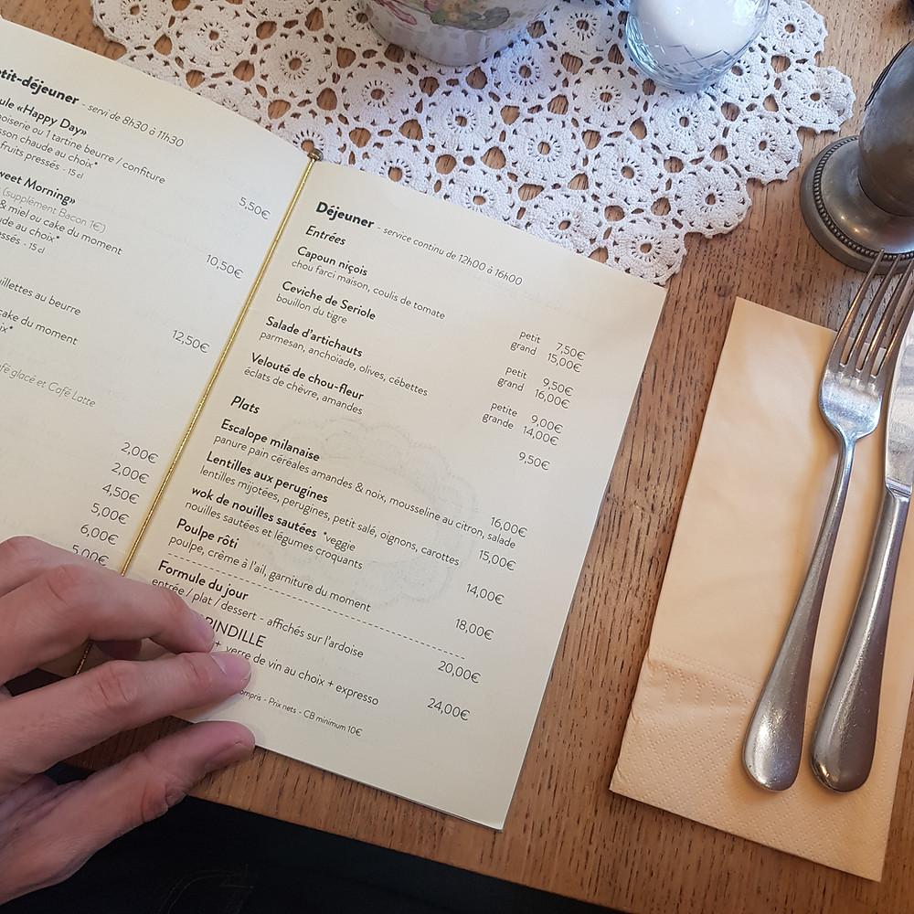 Café Brindille à Nice : restaurant