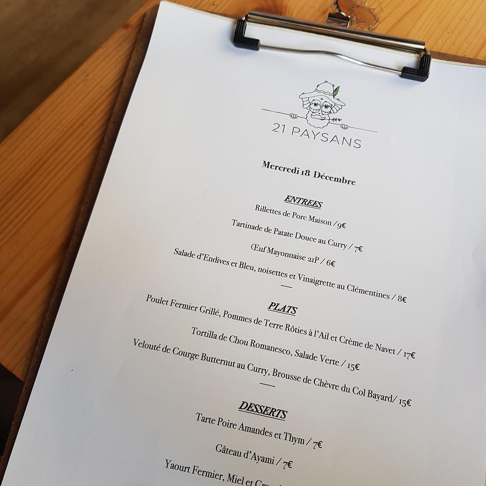 21 paysans restaurant et épicerie à Nice