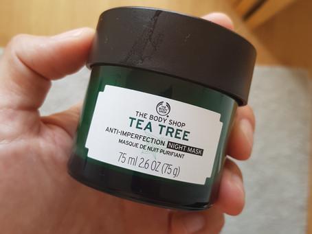 Masque visage de nuit purifiant Tea Tree The Body Shop, mon avis