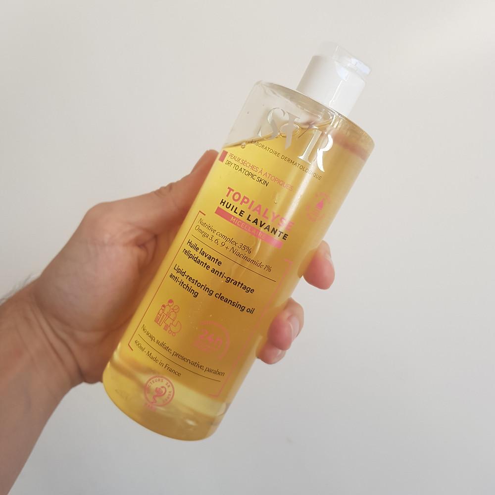 huile lavante micellaire Topialyse de laboratoire SVR