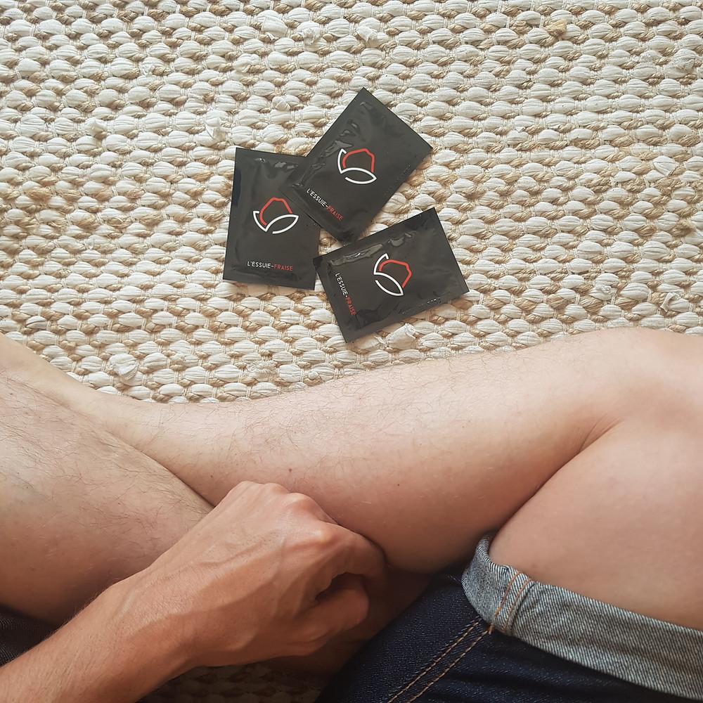 lingette intime pour homme Essuie-Fraise