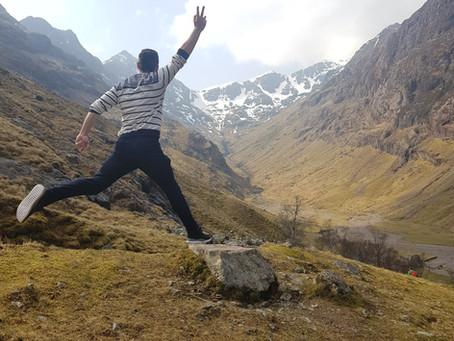 Randonnée des Three Sisters dans le Glen Coe en Écosse