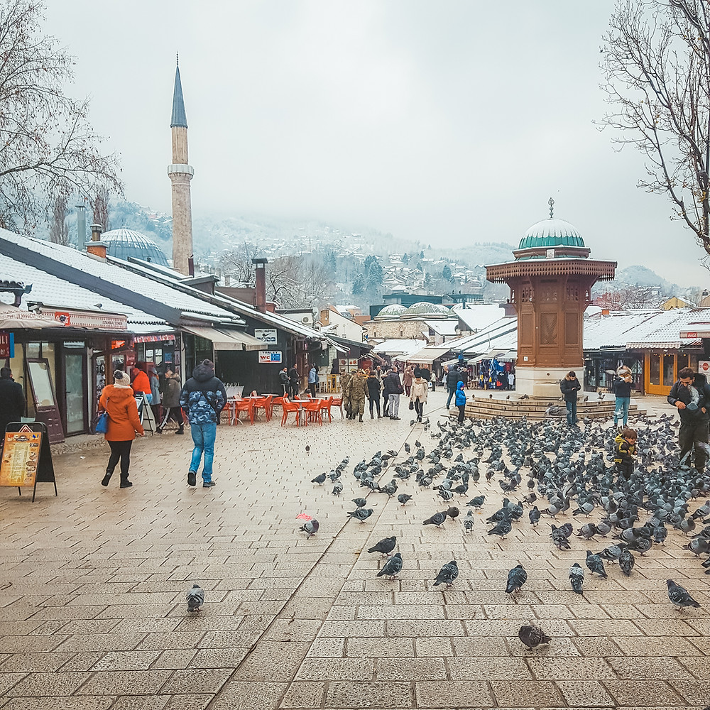 Place Sebilj à Sarajevo