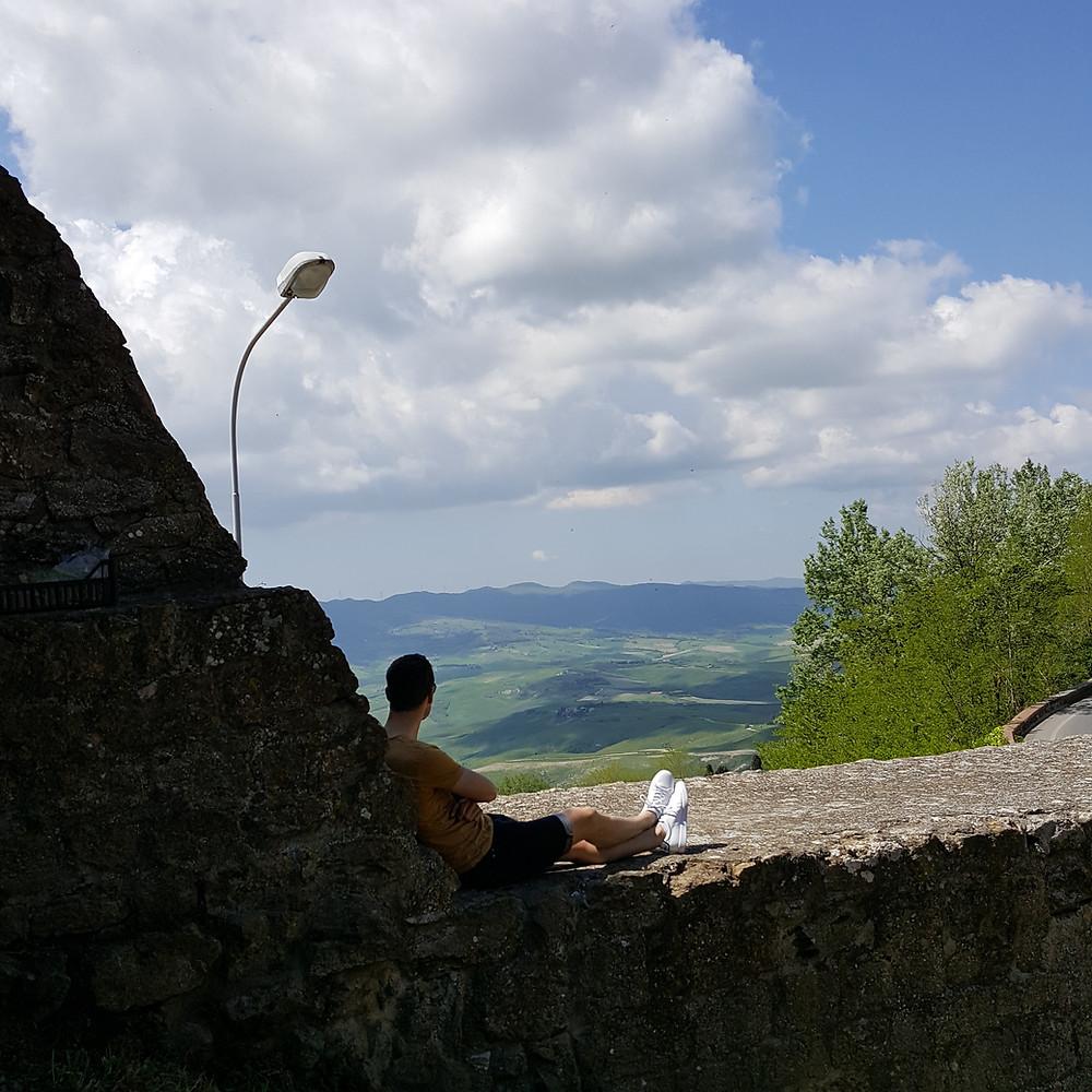 Volterra vue sur le paysage