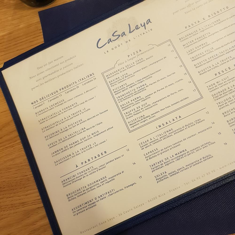 restaurant Casa Leya à Nice